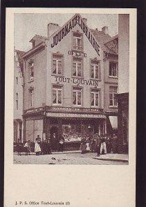 P1559 old unused postcard journaux librairie office people louvain belgi