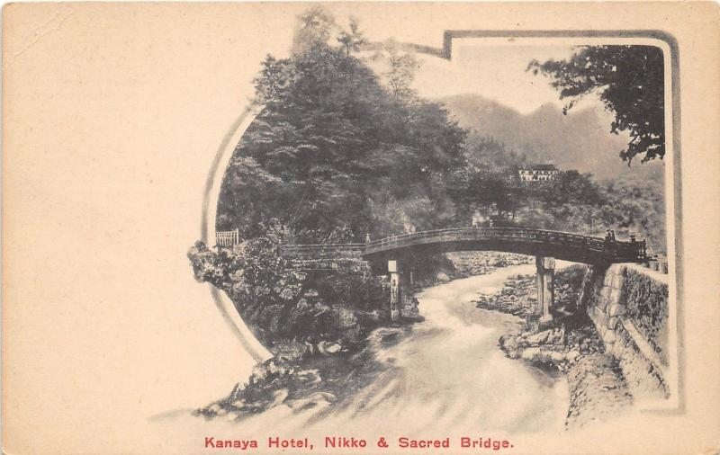 Nikko Japan~Kanaya Hotel Nikko & Sacred Bridge~c1910 Postcard~Printed in Japan