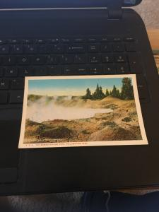 Vintage Postcard; Mammoth Paint pots, Yellowstone Park
