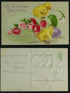 Easter chicks and eggs    Erika  c 1910