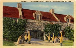 NY - Fort Ticonderoga. South Barracks, Entrance to Place d'Armes