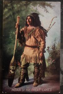 Mint PPC Picture Postcard Cover Native American Indian Of The Great Lakes