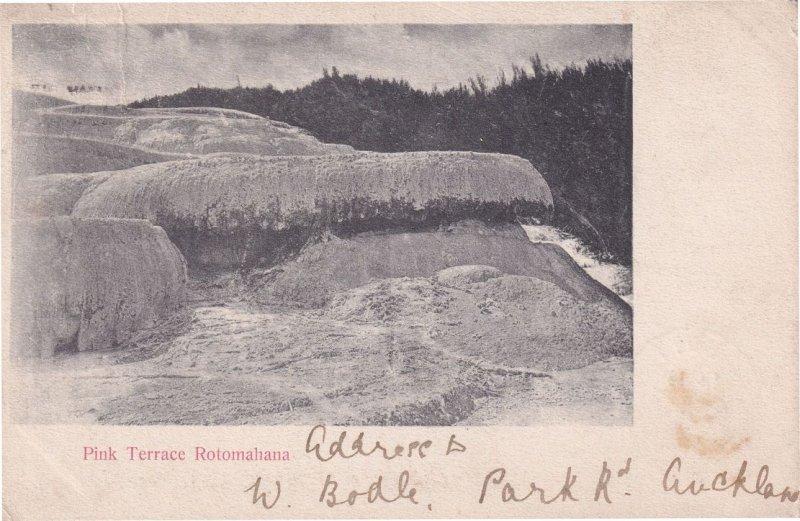 Pink Terrace Rotomahana New Zealand Old 1904 Postcard