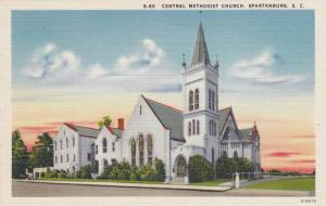 Exterior, Central Methodist Church,Spartanburg,South Carolina,30-40s