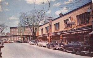 Biddeford Maine~Nichols & Co.'s Lady Pepperell Sheet Shop~1950s Cars Postcard