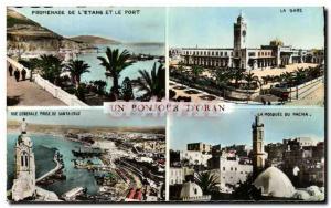 Old Postcard A Hello D Oran