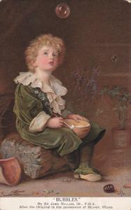 AS: Bubbles by Sir John Millais, Little boy watching soap bubble float away...