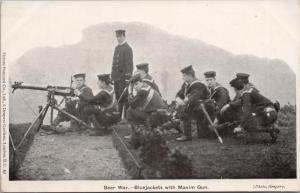 Boer War South Africa Bluejackets with Maxim Gun Soldiers Gregory Postcard E32