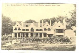 Groote Schuur, The Late Rt. Hon. Cecil Rhodes' Residence, Cape Town, South ...