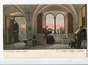 270112 NUN Sunset Song MONK Violinist HOESSLIN vintage Richard