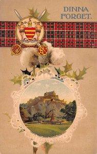 Scotland, UK Old Vintage Antique Post Card Dinna Forget Castle Rock & Ross Fo...