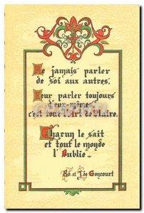 Old Postcard Never self Parlet other