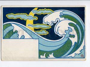 264589 ART NOUVEAU Water L'Eau by CCT Vintage DIETRICH PC