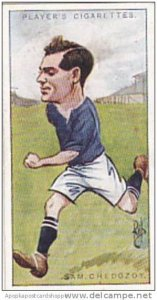 Players Vintage Cigarette Card Footballers Caricatures RIP 1926 No 8 Sam Ched...