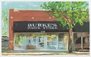 Burkes Bookstore Memphis Tennessee Book Shop Oil Painting Postcard