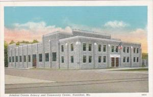 Missouri Hannibal Admiral Coontz Armory and Community Center Curteich