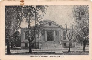 B80/ Henderson Kentucky Ky Postcard c1910 Henderson Library Building