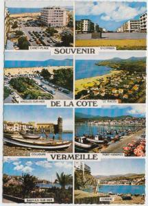 SOUVENIR DE LA COTE VERMEILLE, FRANCE, multi view, unused Postcard