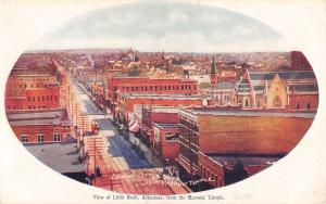 Little Rock Arkansas View From Masonic Temple Antique Postcard K35429