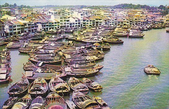 Singapore Boats On The Singapore River