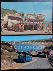 c1960's Llandudno: 2 x PC's, Great Orme Railway & The 'Lily Wainwright' Lifeboat