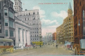 Rochester NY, New York - Four Corners during Horse and Buggy Days - DB
