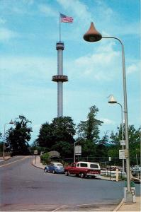 Hershey Pennsylvania Kisses Lamp Post Kissing Tower Amusement Park Postcard