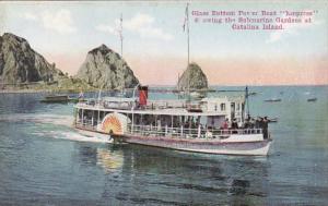 California Catalina Island Glass Bottom Boat Empress Showing Submarine Gardens