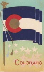 COLORADO , State Flag , 40-50s ; Serigraph