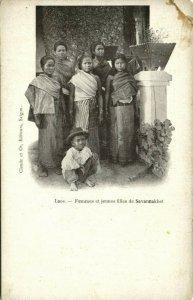 indochina, LAOS, Femmes et jeunes Filles de Savannakhet, Girls (1899) Postcard
