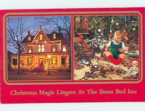 Unused 1987 BRASS BED INN Cape May New Jersey NJ L0737