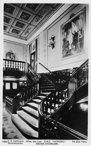R.M.S.  Homeric   White Star Line , Grand Staircase   RPC