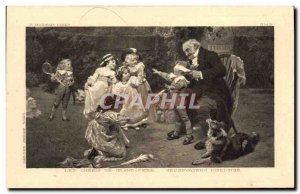 Old Postcard Children's darlings great father Dog