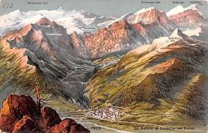 Switzerland Old Vintage Antique Post Card La Gemmi et Loueche les Bains Unused