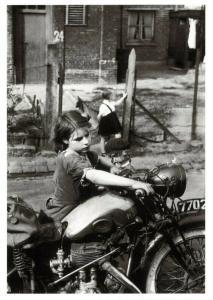 Postcard 1954 La Petite Fille a la Moto. Little Girl with Motorbike BW81