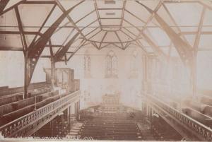 Brighton Union Church Organ Interior Spectacular Aerial Old Real Photo Postcard