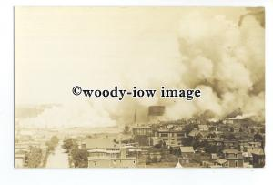 su3214 - Fire at West St Johns Docks , New Brunswick Canada June 1931 - postcard