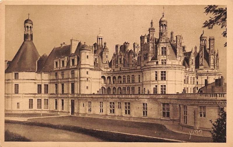 France La Douce France Chateaux De La Loire Chateau De Chambord Castle Hippostcard