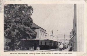 California Asti Italian Swiss Colony Winery Shipping & Loading Track 1942