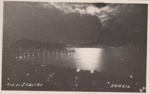 RP: RIO DE JANEIRO , Brazil , 1910-30s ; At night