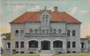 Ohio Akron Summit County Jail 1910 sk4378