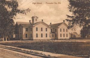 Pocomoke City MD High School Albertype Publisher in 1918 Postcard