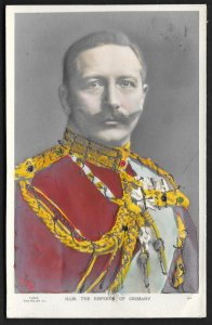 Wilhelm II The Emperor of Germany Bas Relief GERMANY Unused c1910s