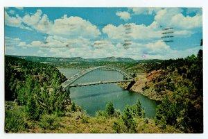 Postcard Cart Creek Bridge Flaming Gorge Dam Utah Standard View Card QSL