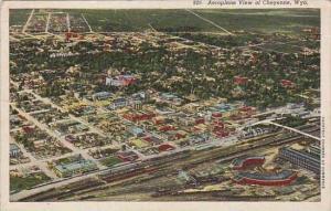 Wyoming Cheyenne Aeroplane View Of Cheyenne 1945