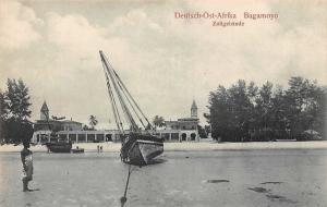German East Africa Tanzania Bagamoyo Zollgebaeude, Native Man, Boat, D.O. Afrika