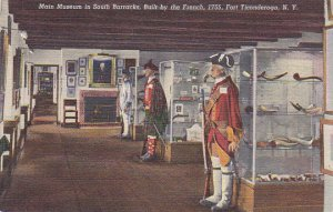 Main Museum In South Barracks Built By French 1755 Fort Ticonderoga New York ...