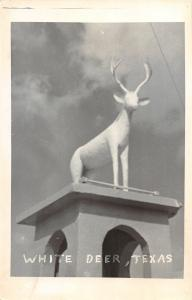F27/ White Deer Texas RPPC Postcard c1950s Monument