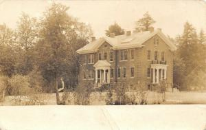 Munising Michigan~Hospital~3 Story House in Woods~1918 Real Photo Postcard