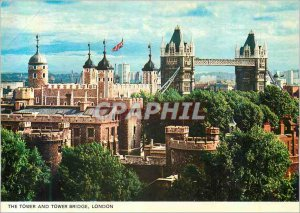 Old Postcard The Tower and Tower Bridge London